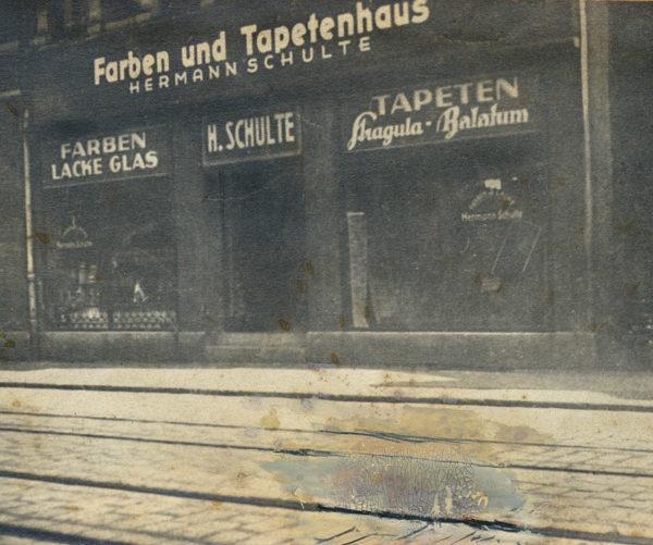 Historisches Bild - Farben und Tapetenhaus Hermann Schulte